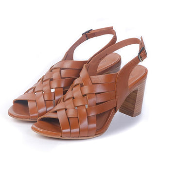 Heel sandals Gigi-Princess Camel