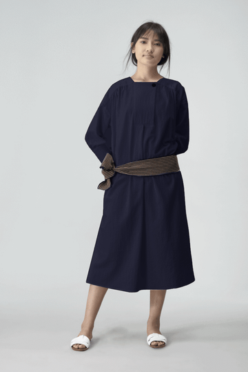 Cedar Womens Long Dress GMT Dye Navy OS