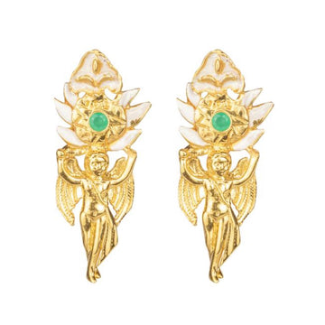 Seraphina Earrings with Enamel - 18K GP