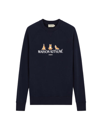 Sweatshirt 3 Yoga Foxes Navy (Unisex)