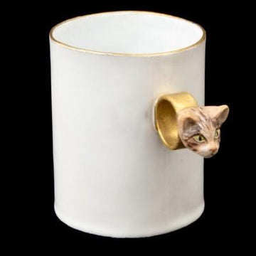 Serena Tabby Cat Cup