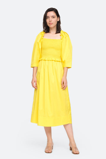 Tabitha Smocked Dress Citron