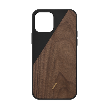 Clic Wooden Iphone Case Black IPhone 12