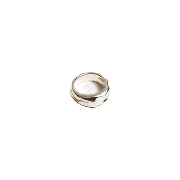 Aida Thick Organic Ring Band Sterling Sliver