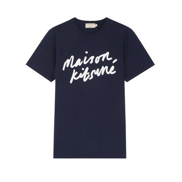 Tee Shirt Handwriting Navy (Men)