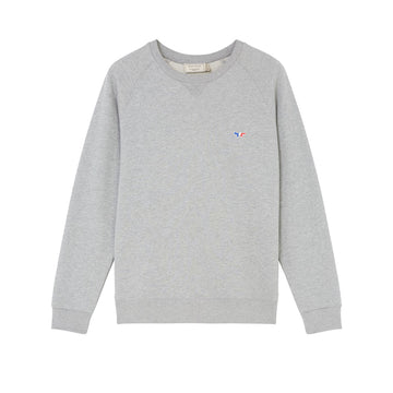 Sweatshirt Tricolor Fox Patch Grey Melange (Men)