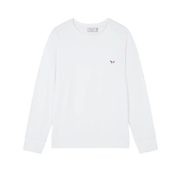 Sweatshirt Tricolor Fox Patch White (Men)