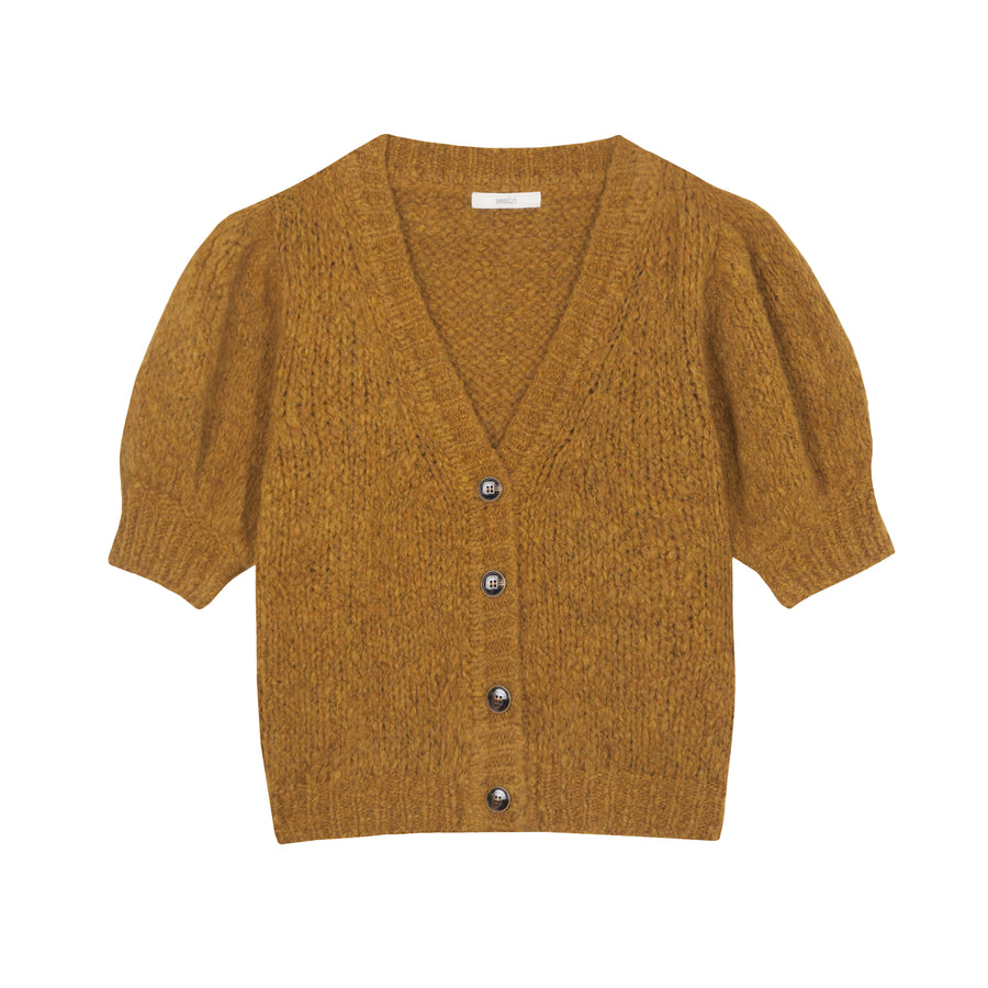 Haylie Short Sleeves Cardigan Ambre