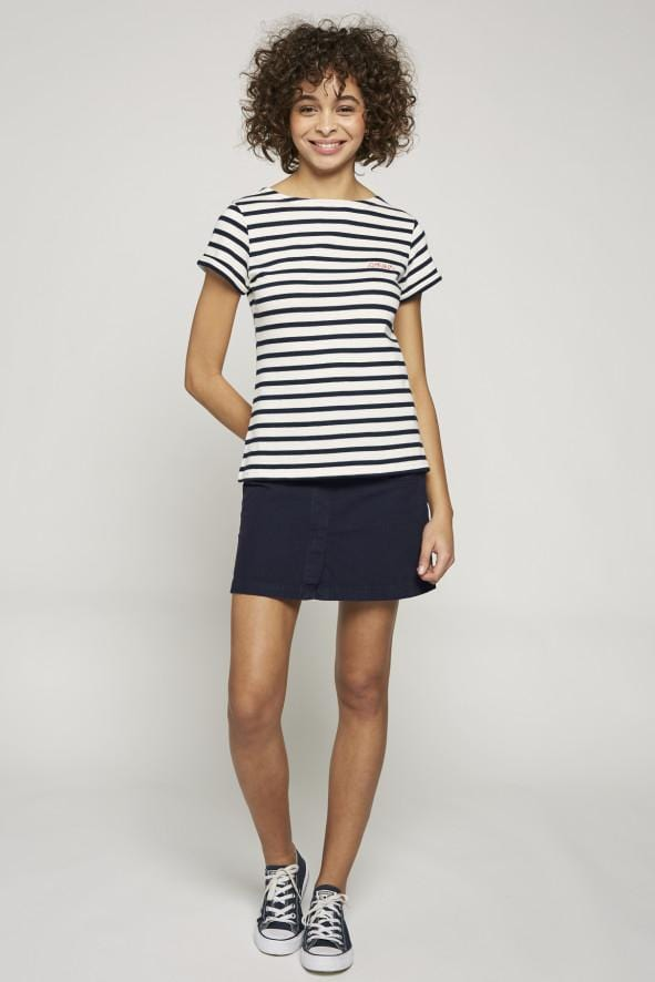 Sailor Shirt SS Amour Ivory-Navy (Women)