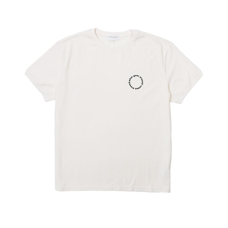 College Tee SS Cercle Off White Dark Navy