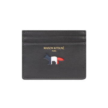 Card holder Tricolor Leather Black