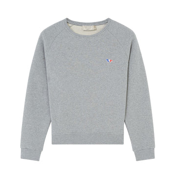 Sweatshirt Tricolor Fox Patch Grey Melange (Women)