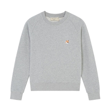 Sweatshirt Fox Head Patch Grey Melange (Women)
