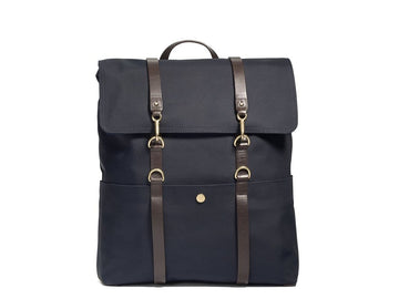 MS Backpack Navy / Dark Brown