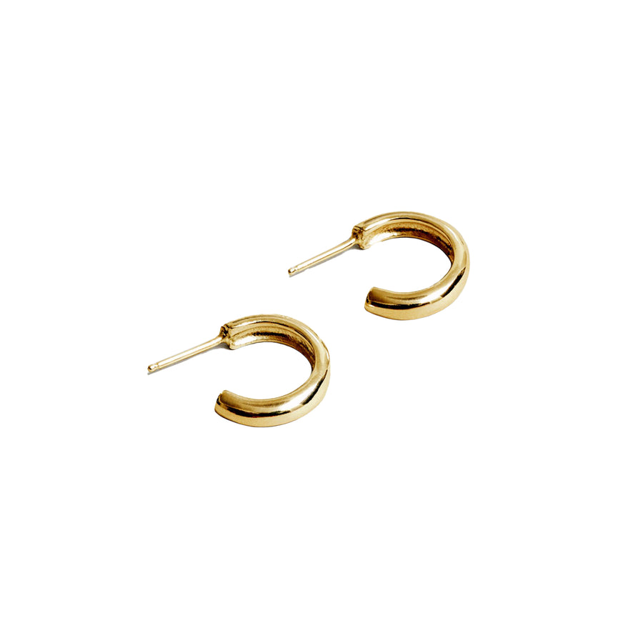 Abbie Hoop Ear Simple 14K GP SS
