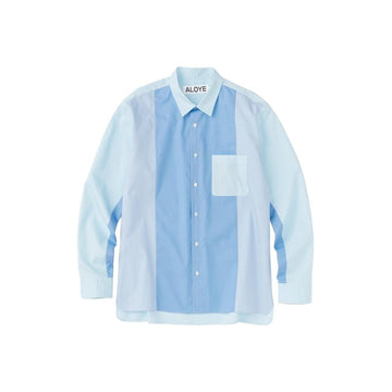 Color Blocks Long Sleeve Shirt Blue