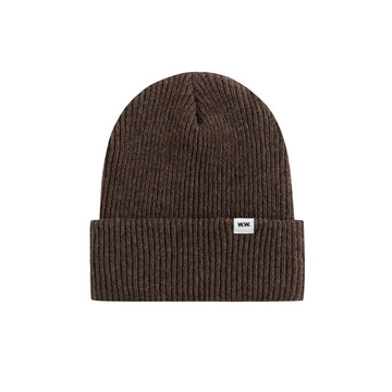 Wood Wood Mande Beanie Dark Brown OS