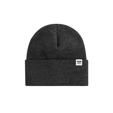 Wood Wood Gerald Tall Beanie Dark Grey OS