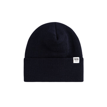 Wood Wood Gerald Tall Beanie Navy OS