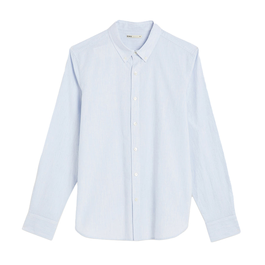 Fulton Heather Oxford Shirt LS Blue Heather