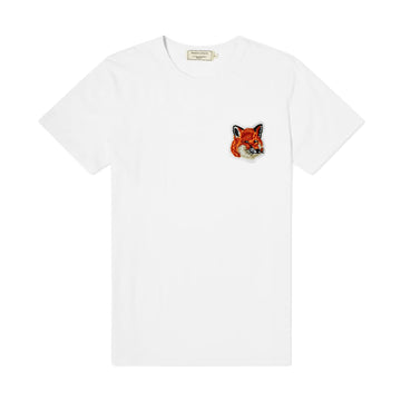 Tee-Shirt Velvet Fox Head Patch Classic White (Unisex)