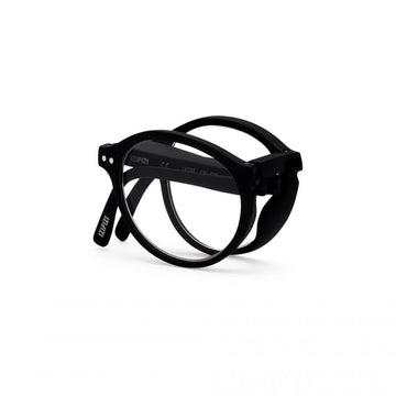 foldable reading glasses #F Black +1,00