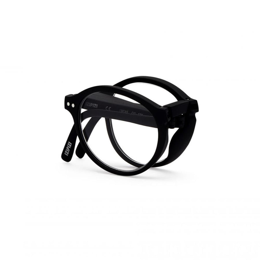 foldable reading glasses #F Black +1,50