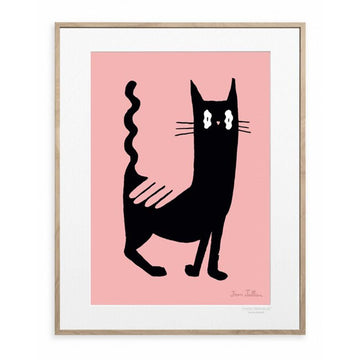 Jean Jullien Black Cat 30X40 cm