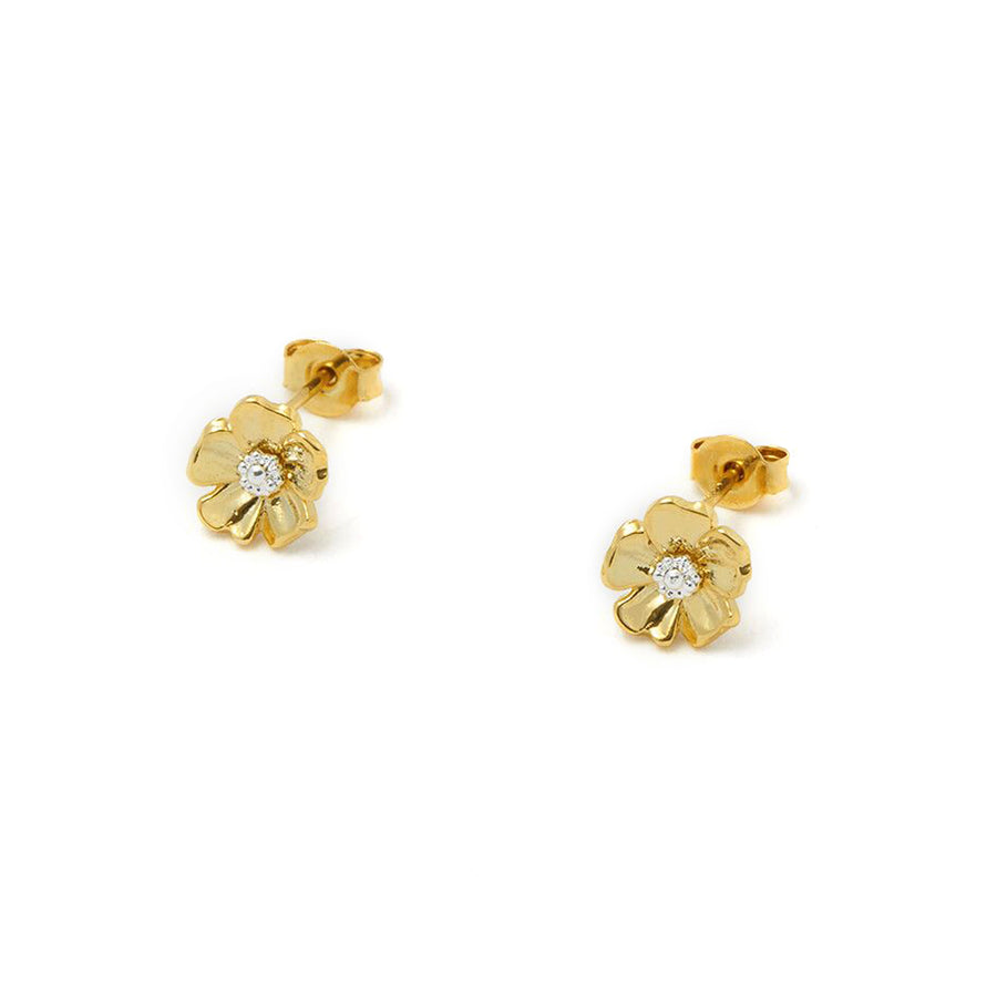 Cherry Blossom Stud Earrings Gold & SP
