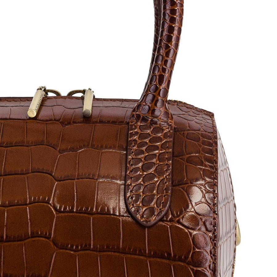 Boston Mini Brown Croco