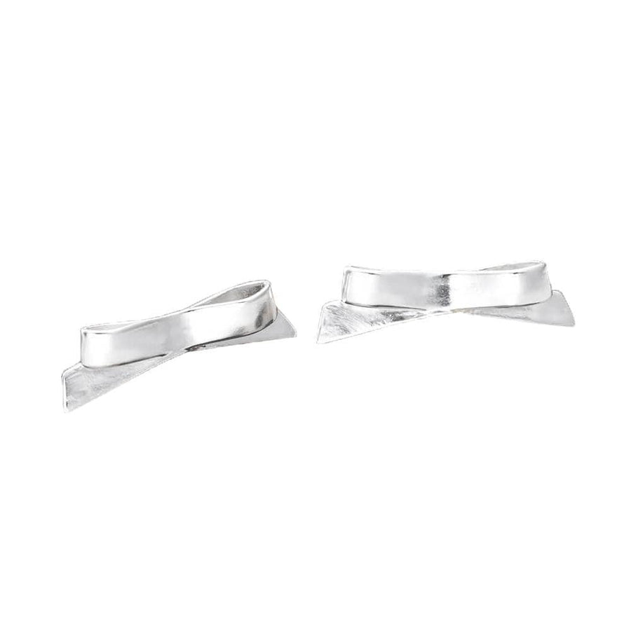 Petite Bows Studs Silver
