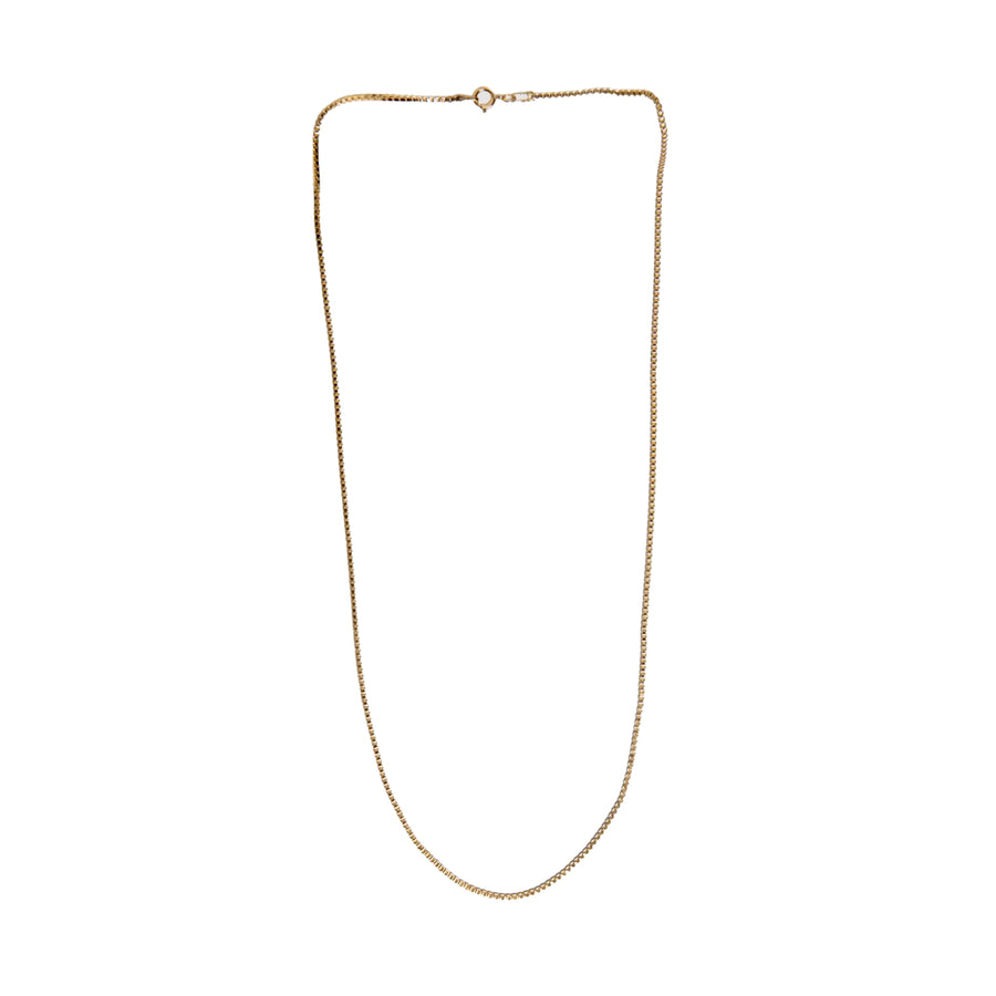 Box Chain Necklace Gold Filled Chain 20