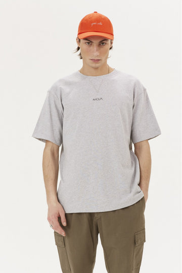 Boxy Tee SS Amour Light Heather Grey