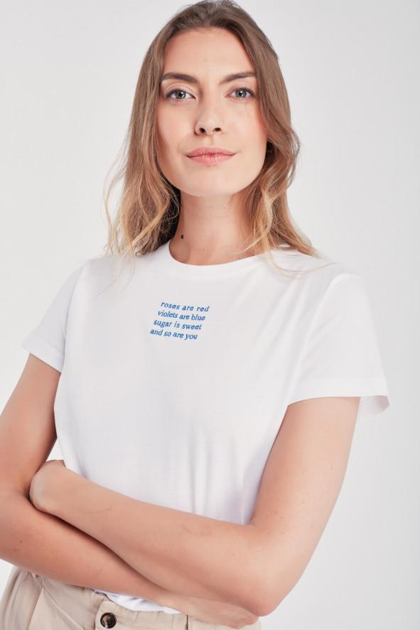 Boyfriend Tee-Shirt Poeme White (women)