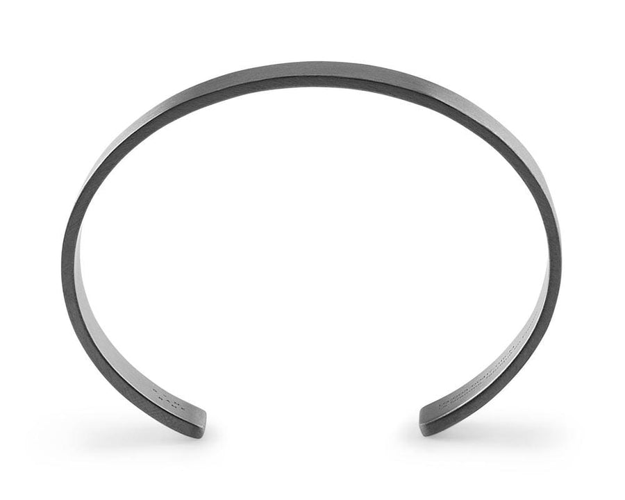 Bracelet 33g - slick Brushed - Black Silver 925