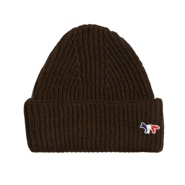 Ribbed Hat Tricolor Fox Patch Brown U