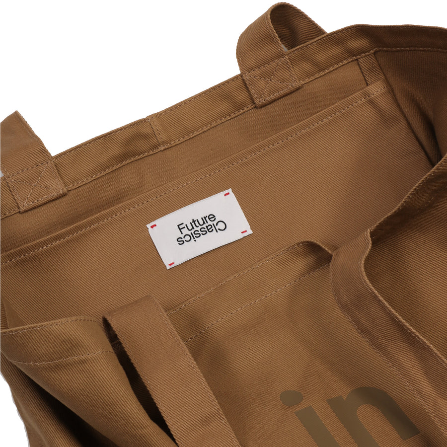 Large Tote Canvas Khaki OS