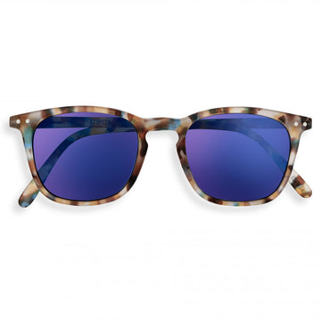 SUN #E Blue Tortoise Mirror Soft Grey Lenses
