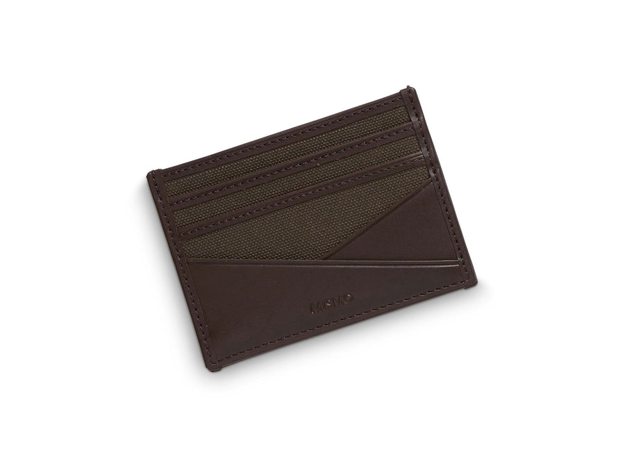 MS Cardholder Army / Dark Brown