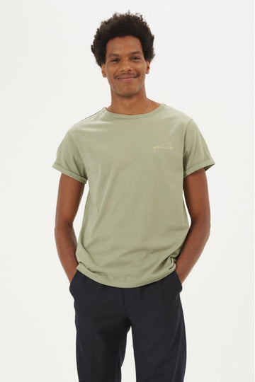 Classic Tee Good Vibe Olive Green