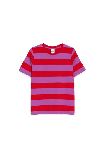 Classic Tee Red Purple Stripe