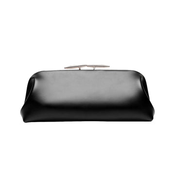 Oyster Clutch Calf Leather Black