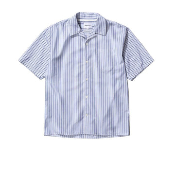 Carsten Poplin Blue Mix Stripe