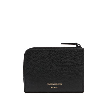 Zipper Wallet 9179 Black Textured
