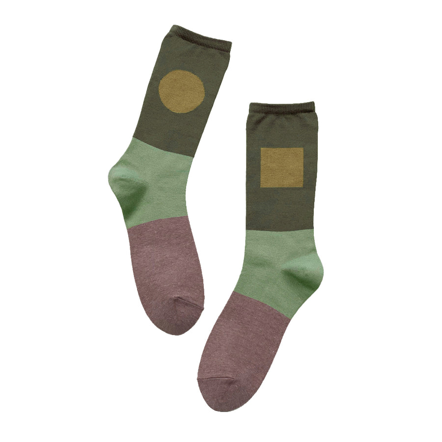 Socks One Pair Man Dark Green OS