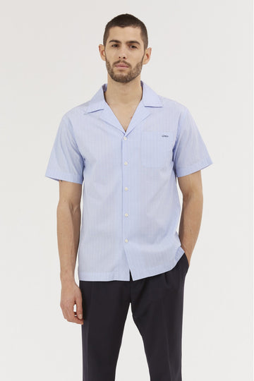 Down Colar Shirt Coach Stone Blue