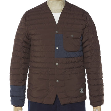 Down Overshirt Seal Brown