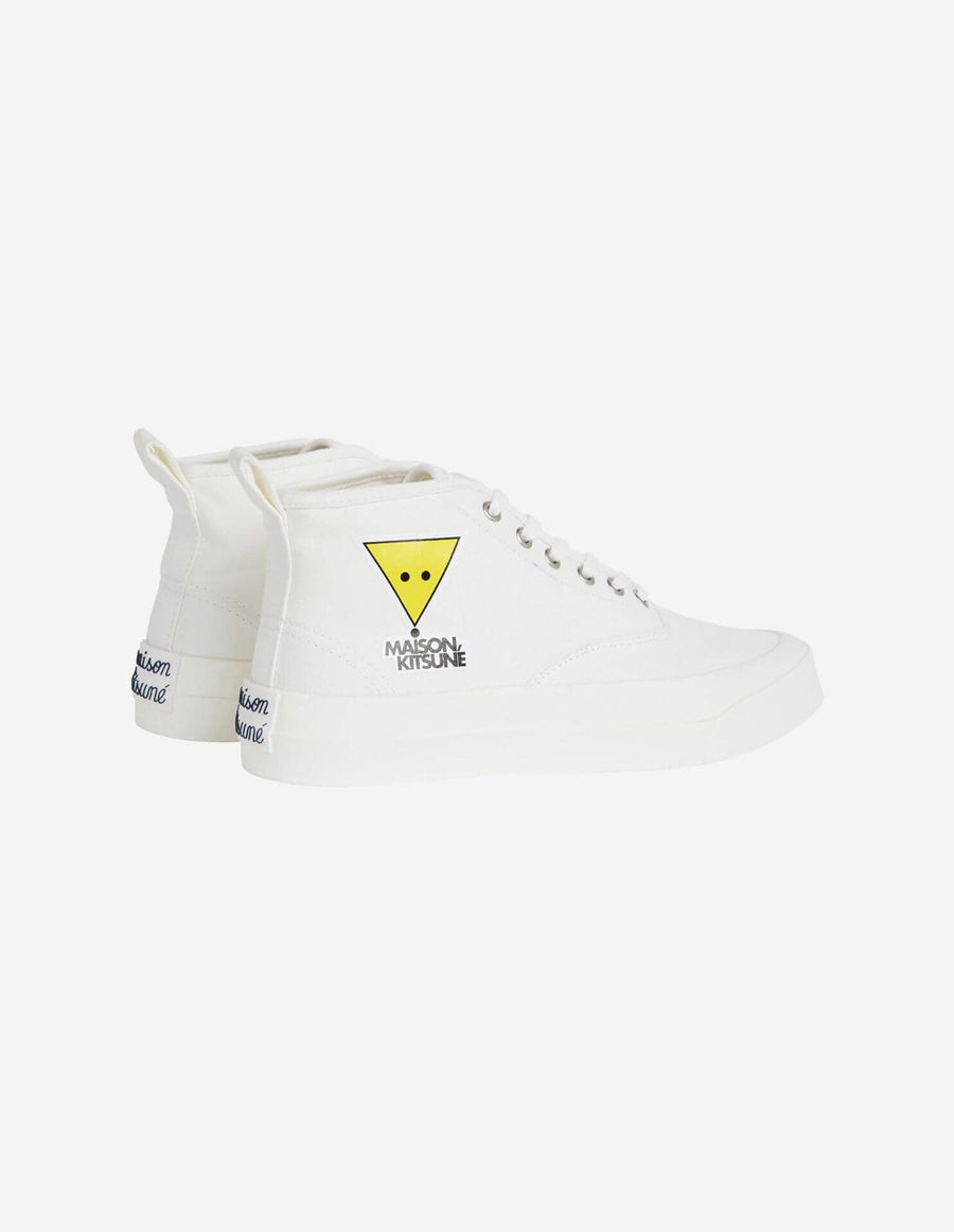 Canvas Sneaker High Top Kool Fox White (Unisex)