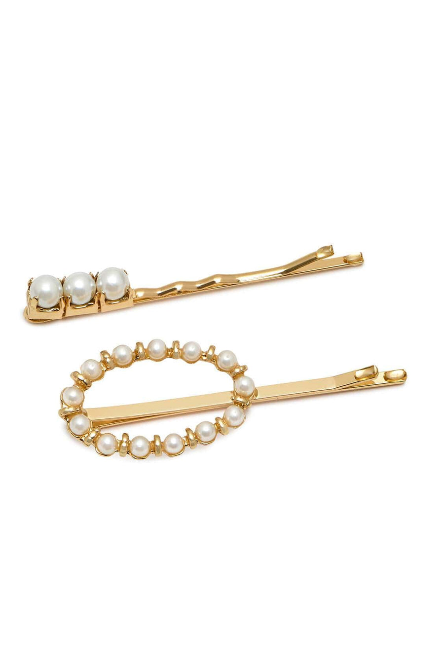 Pearl Hair Slide Set Gold