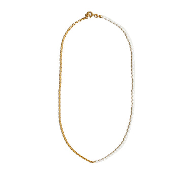 Effy Necklace Pearl & Gold Filled Chain Mixed